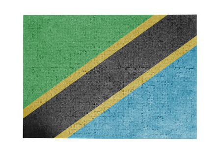 linkages: Large jigsaw puzzle of 1000 pieces - flag - Tanzania
