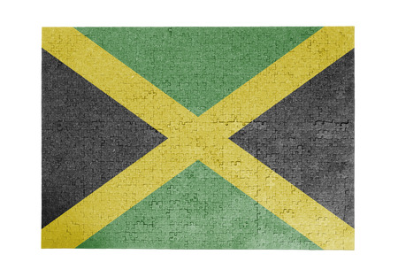 linkages: Large jigsaw puzzle of 1000 pieces - flag - Jamaica