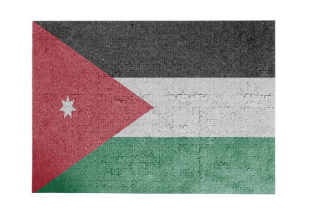 linkages: Large jigsaw puzzle of 1000 pieces - flag - Jordan Stock Photo