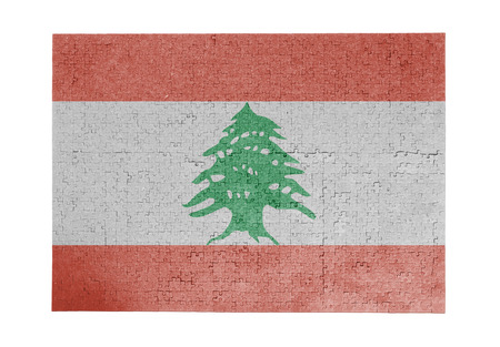 linkages: Large jigsaw puzzle of 1000 pieces - flag - Lebanon