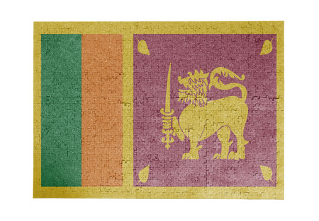 sri lankan flag: Large jigsaw puzzle of 1000 pieces - flag - Sri Lanka