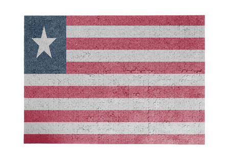linkages: Large jigsaw puzzle of 1000 pieces - flag - Liberia