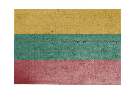 linkages: Large jigsaw puzzle of 1000 pieces - flag - Lithuania Stock Photo