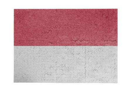 linkages: Large jigsaw puzzle of 1000 pieces - flag - Indonesia