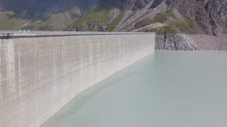gravity: Dam Grande Dixence - Worlds highest gravity dam in Switzerland