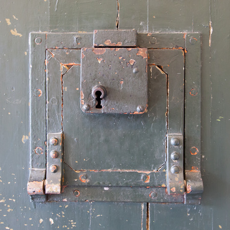 prison: Very old prison door, prison in the Netherlands Stock Photo