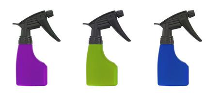 dampen: Spray bottle with, illustration on white background