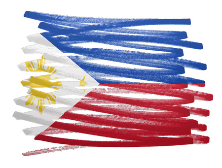philippines: Flag illustration made with pen - Philippines