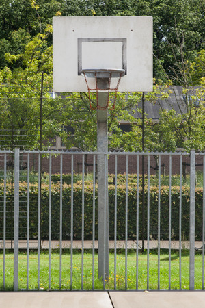 incarceration: Basketball court in an old jail, the Netherlands Stock Photo