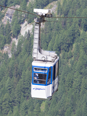 dyke: Grande Dixence, Switzerland - 20 july, 2015: Skilift at the Grande Dixence. Its the highest gravity dam in the world, 20 july, 2015, Grande Dixence Editorial