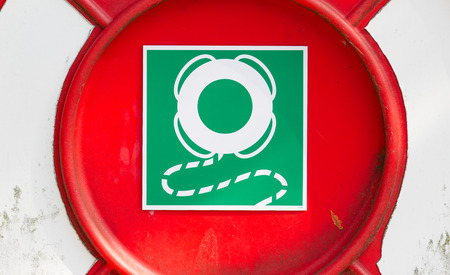 emergency case: Sign of a life buoy, in case of emergency