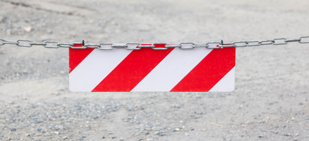 tresspass: Red forbidden access sign, selective focus on sign