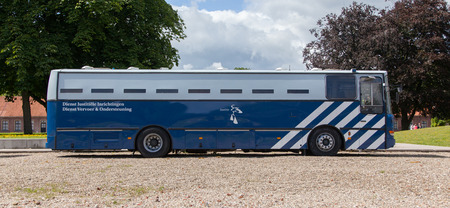 incarceration: VEENHUIZEN, the Netherlands - JULY 29, 2015: Correction Department Bus of the dutch Department of Justice on July 29, 2015, Veenhuizen.
