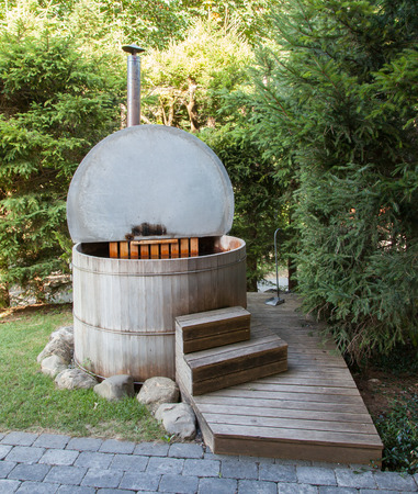 retreats: Wooden hot tub in the alps, Switzerland