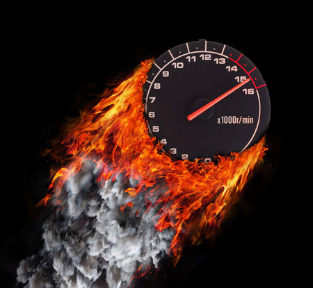 rpm: Concept of speed - Trail of fire and smoke - RPM