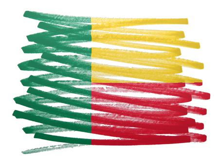Flag illustration made with pen - Benin