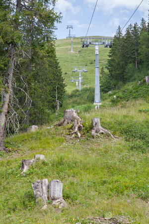 chairlift: Chairlift on a mountain in the Lenk, Switzerland