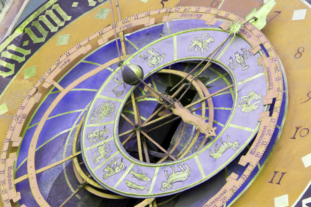 zodiacal: Famous Zytglogge zodiacal clock in Bern, Switzerland Stock Photo