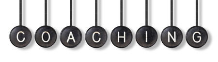 type bar: Typewriter buttons, isolated on white background - Coaching