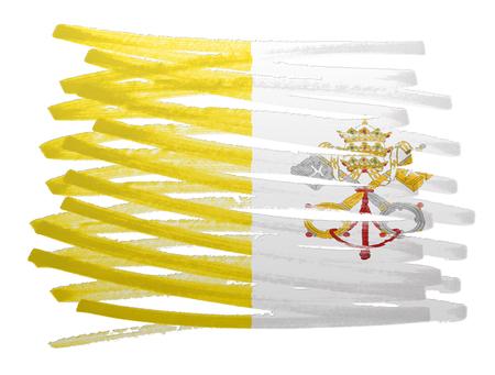 ciudad del vaticano: Flag illustration made with pen - Vatican City Foto de archivo