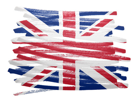 uk map: Flag illustration made with pen - UK Stock Photo