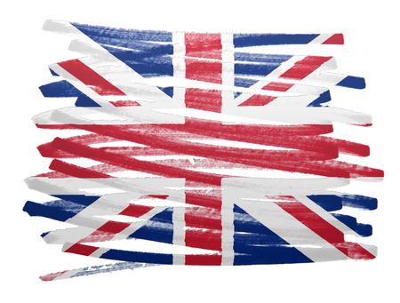 bandera reino unido: Flag illustration made with pen - UK Foto de archivo