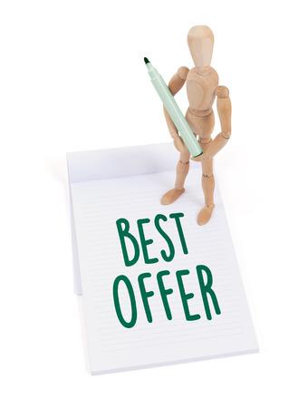 artists mannequin: Wooden mannequin writing in a scrapbook - Best offer