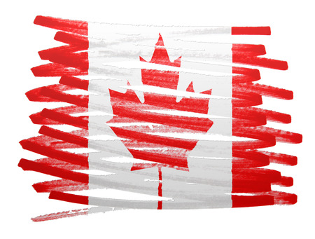 canada flag: Flag illustration made with pen - Canada Stock Photo