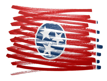 tennesse: Flag illustration made with pen - Tennessee Foto de archivo