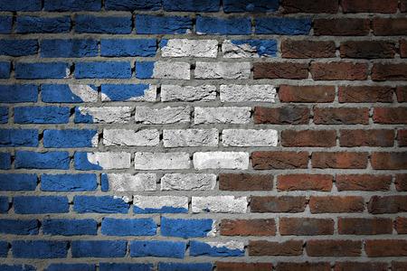bulwark: Dark brick wall texture - flag painted on wall - Antarctica