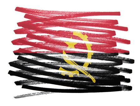 angola: Flag illustration made with pen - Angola Stock Photo