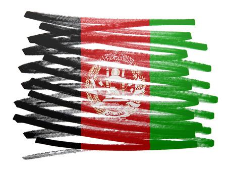 Flag illustration made with pen - Afghanistan