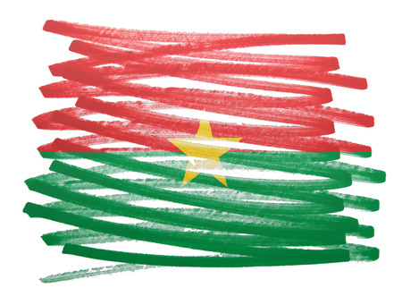 burkina faso: Flag illustration made with pen - Burkina Faso