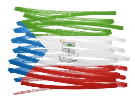 equatorial guinea: Flag illustration made with pen - Equatorial Guinea