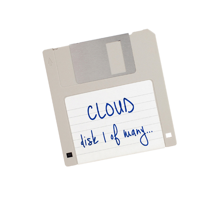 1: Floppy Disk isolated on white - Cloud, disk 1 of many