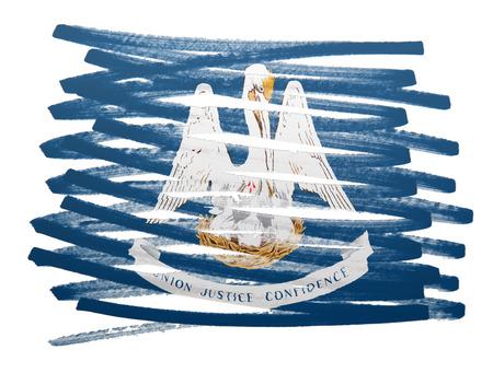 louisiana flag: Flag illustration made with pen - Louisiana
