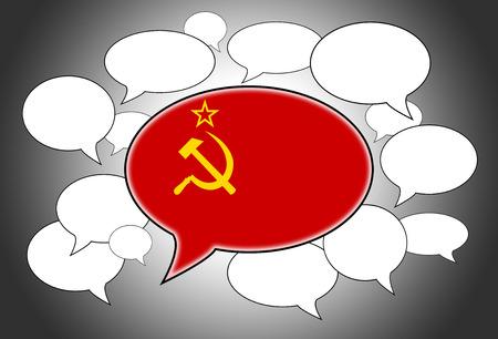 spoken: Speech bubbles concept - spoken language is that of USSR