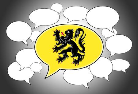spoken: Speech bubbles concept - spoken language is that of Flanders
