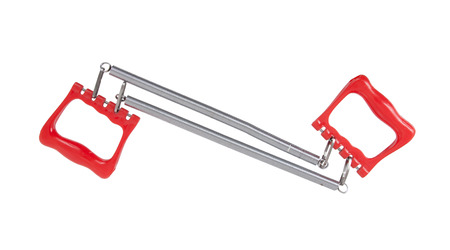 expander: Chest expander with red handle isolated on white Stock Photo