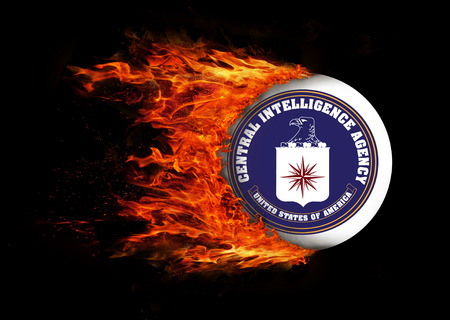 CIA: Concept of speed - Flag with a trail of fire - CIA