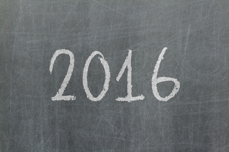 christmas budget: 2016 - Old chalkboard with hand drawn text