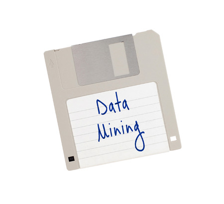mine data: Floppy Disk - Tachnology from the past, isolated on white - XXXXX