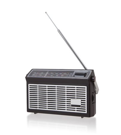 electronic background: Portable radio isolated on a white background Stock Photo