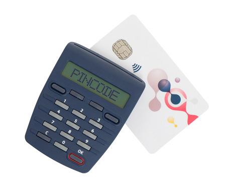Banking at home, card reader for reading a bank card - Pincode