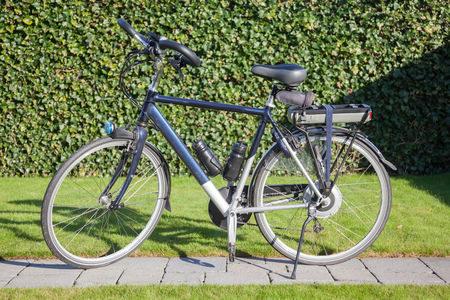 electric motor: Electric bicycle in the sun
