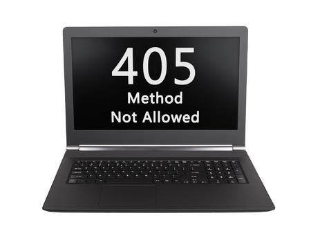 webserver: HTTP Status code on a laptop screen  - 405, Method Not Allowed