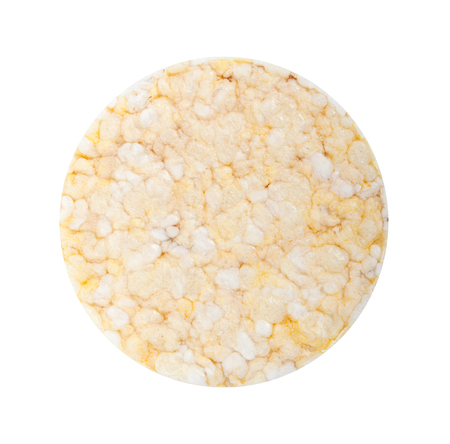 galettes: Rice cookie isolated on a white background
