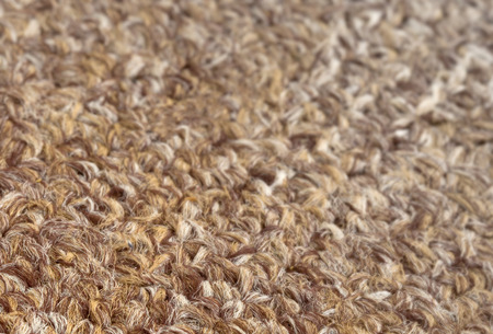 carpet texture: Carpet texture close-up, beige furry carpet texture background, selective focus Stock Photo