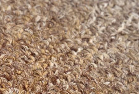 Carpet texture close-up, beige furry carpet texture background, selective focus Stock Photo