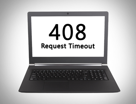 webserver: HTTP Status code on a laptop screen  - 408, Request Timeout